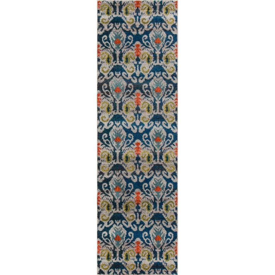 Momeni Pelham Navy Rectangular Indoor Woven Runner (Common: 2 x 8; Actual: 27-in W x 90-in L)