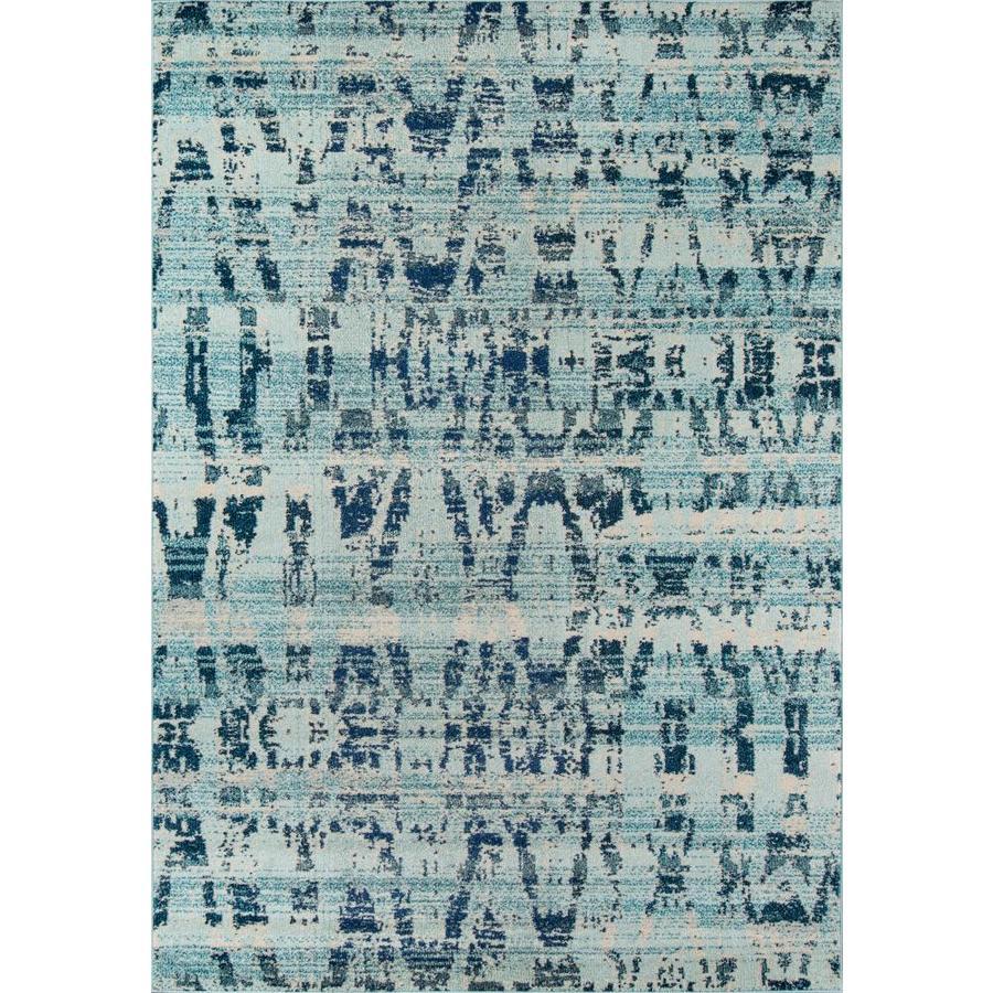 Momeni Drake Ocean Blue Rectangular Indoor Woven Area Rug (Common: 8 x 10; Actual: 94-in W x 118-in L)