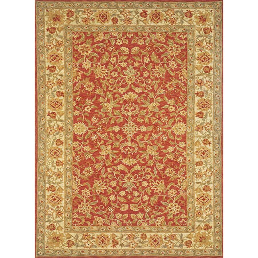 Momeni Marlys Red Rectangular Indoor Hand-Hooked Area Rug (Common: 5 x 8; Actual: 63-in W x 96-in L)