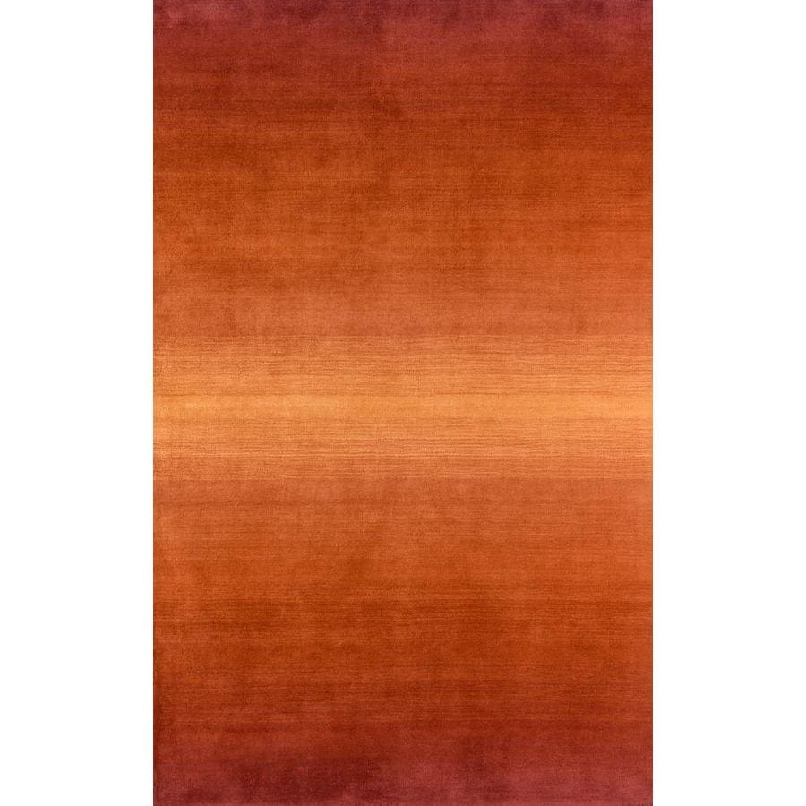 Momeni Katy Orange Rectangular Indoor Woven Area Rug (Common: 8 x 11; Actual: 96-in W x 132-in L)