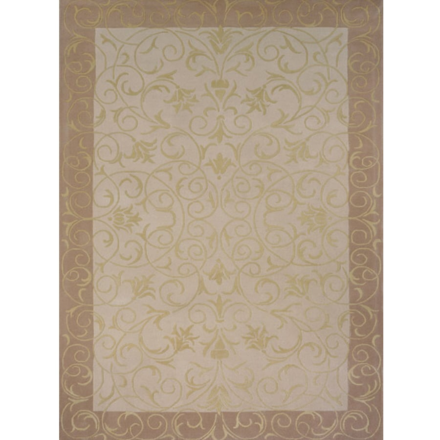 Momeni Gabby Rectangular Cream Transitional Tufted Wool Area Rug (Common: 4-ft x 6-ft; Actual: 3.5-ft x 5.5-ft)