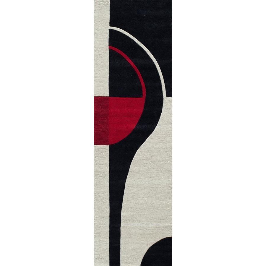 Momeni Kirk Black Black Rectangular Indoor Tufted Runner (Common: 2 x 8; Actual: 27-in W x 96-in L)