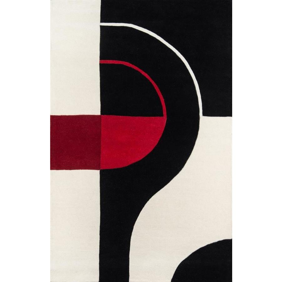 Momeni Kirk Black Rectangular Indoor Tufted Area Rug (Common: 4 x 6; Actual: 42-in W x 66-in L)