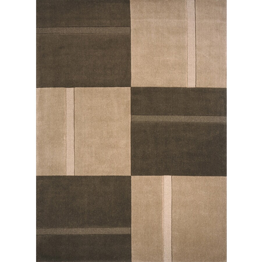 Momeni Scott Rectangular Brown Geometric Woven Wool Area Rug (Common: 5-ft x 8-ft; Actual: 5-ft x 8-ft)
