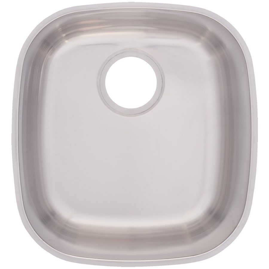 Franke USA Essential 14.75-in x 16-in Silk Rim and Bowl Single-Basin Stainless Steel Undermount Commercial/Residential Kitchen Sink