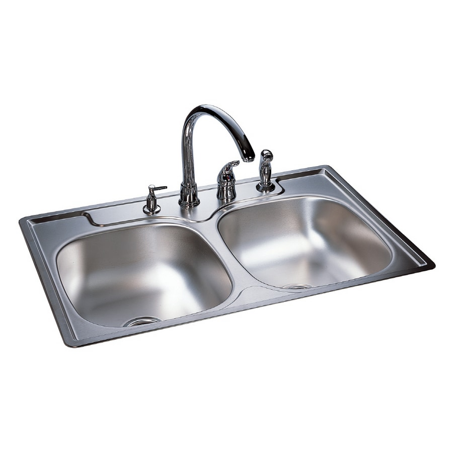 Franke USA Double-Basin Stainless Steel Topmount Kitchen Sink