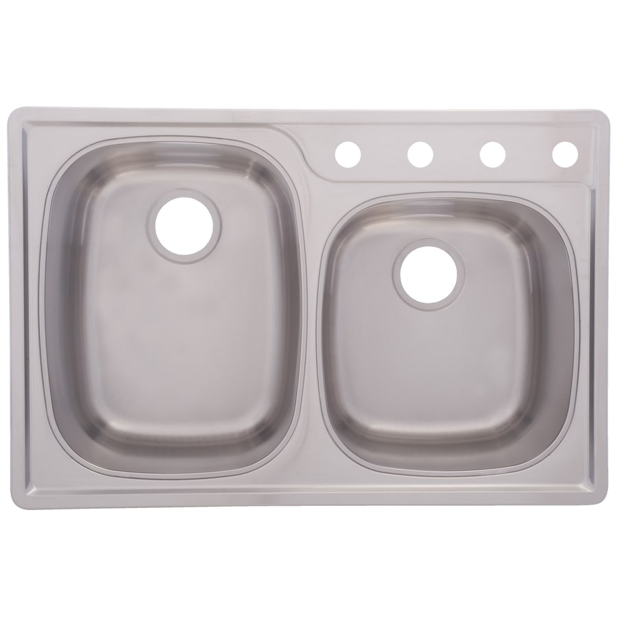 Franke USA Frankeusa 22-in x 33-in Satin Deck and Silk Bowls Double ...