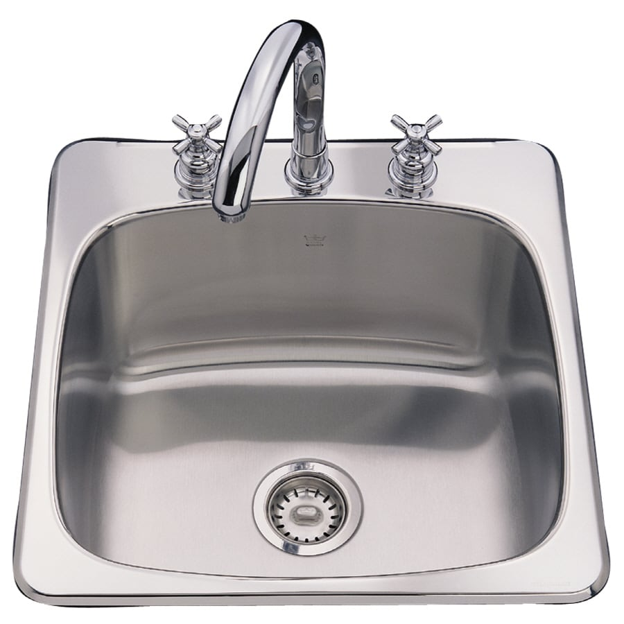 Franke USA Axis 20.125-in x 20.5625-in Silk Deck and Bowl Single-Basin ...