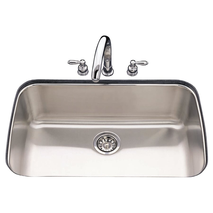 Shop Franke USA Single-Basin Stainless Steel Undermount Kitchen Sink ...