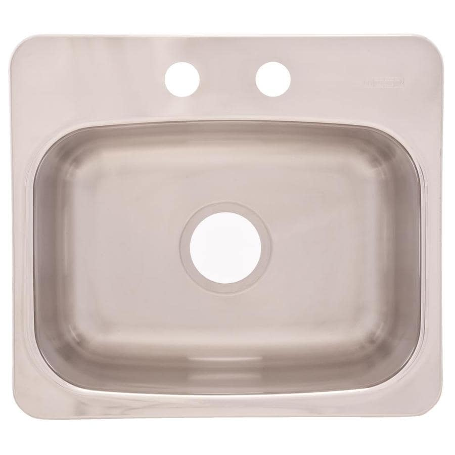 Franke USA Axis Mirror Deck and Silk Bowl 2-Hole Stainless Steel Drop-in or Undermount Commercial/Residential Bar Sink
