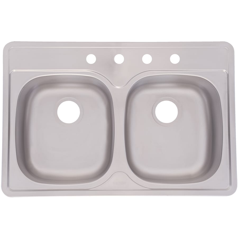 Franke Drop In Sink : ... Deck and Silk Bowls Double-Basin Stainless Steel Drop-In Kitchen Sink