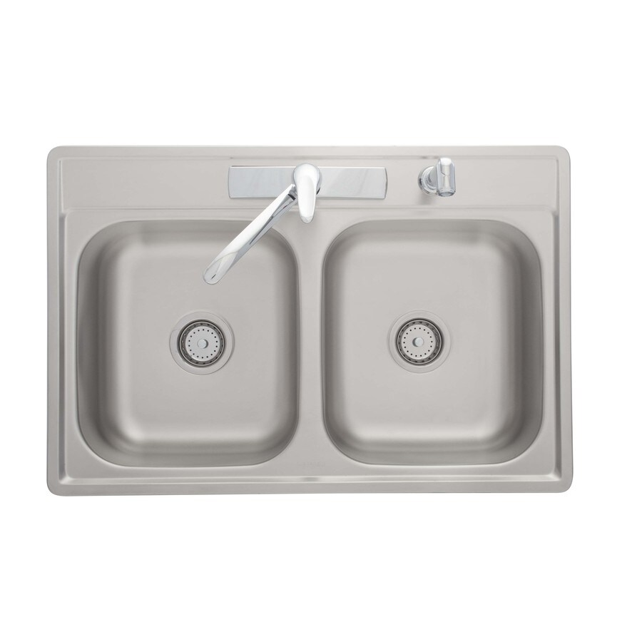 Shop Kindred Essential 33-in x 22-in Satin Double-Basin