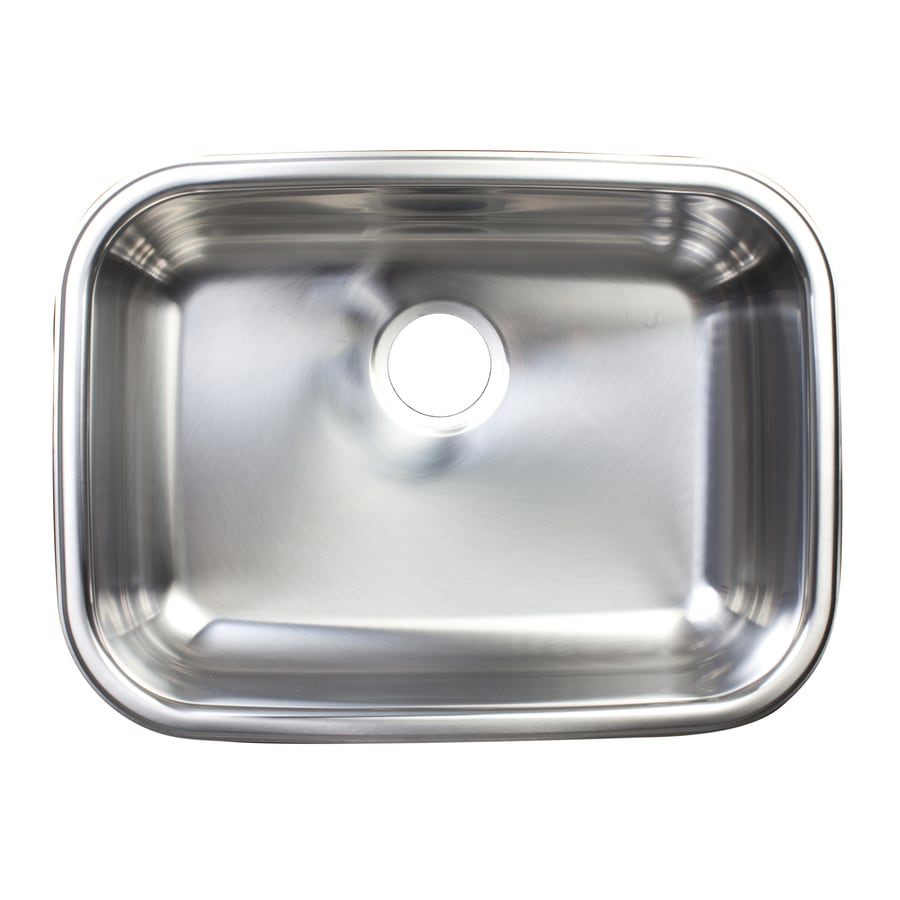 Kindred Essential 23.625-in x 17.625-in Silk Rim and Bowl Single-Basin Stainless Steel Undermount Commercial/Residential Kitchen Sink