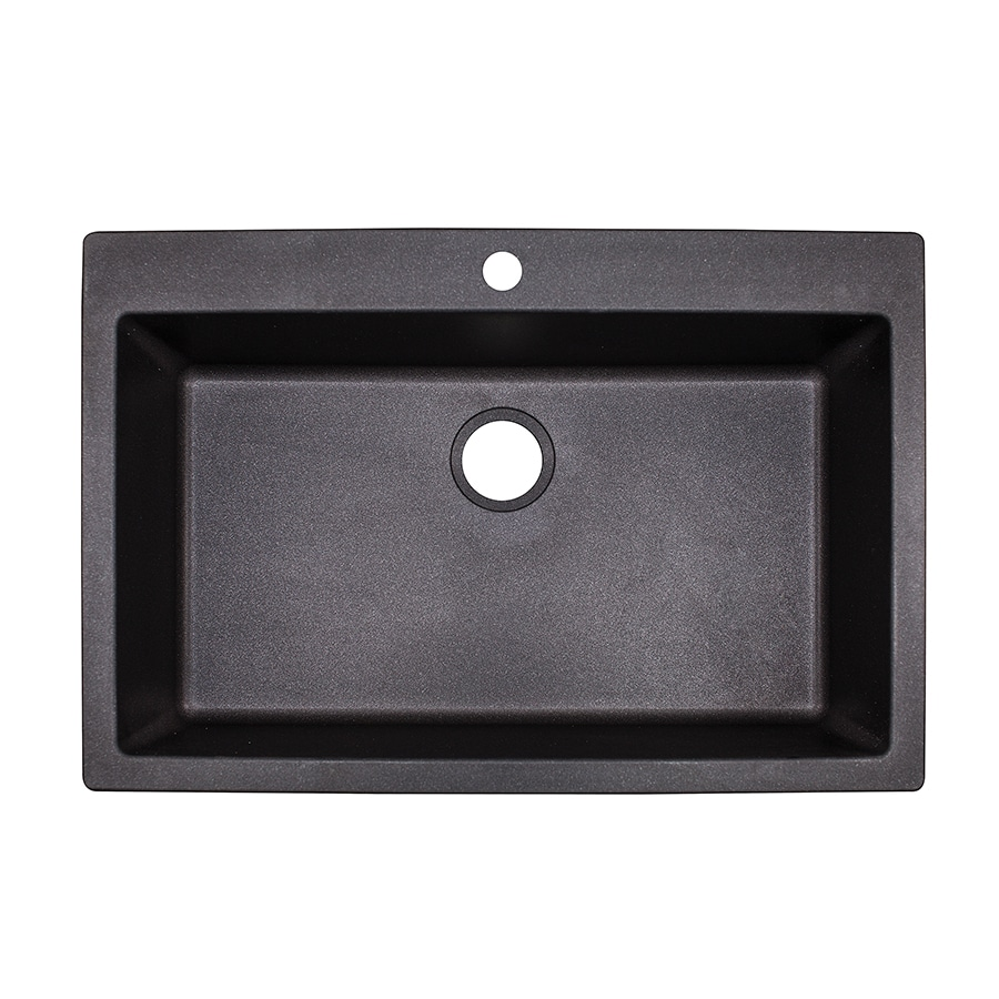 Franke Graphite Sink : Shop Franke Primo 33-in x 22-in Graphite Single-Basin Granite Drop-in ...