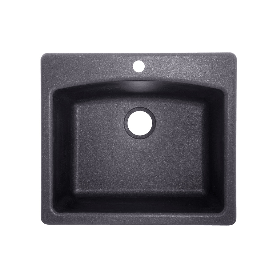 Franke Graphite Sink : Franke Ellipse 25-in x 22-in Graphite Single-Basin Granite Drop-in or ...