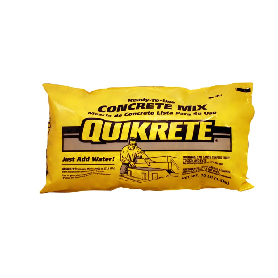 QUIKRETE 10-lb Gray High Strength Concrete Mix