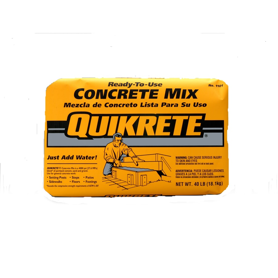 QUIKRETE 40-lb Gray High Strength Concrete Mix