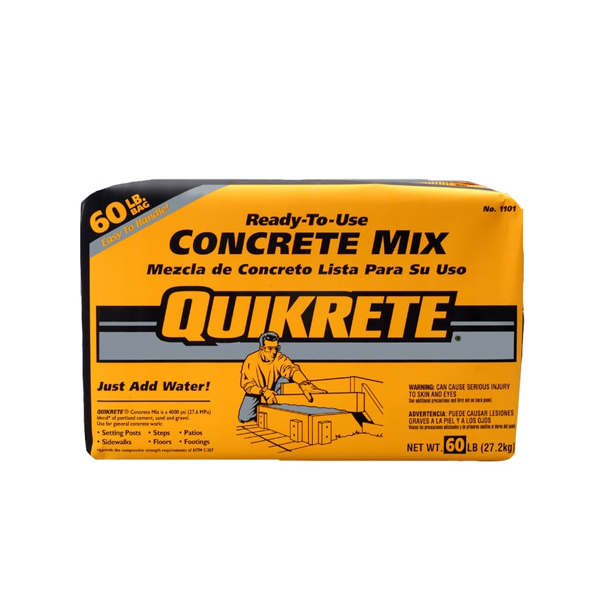 QUIKRETE 60-lb Gray High Strength Concrete Mix