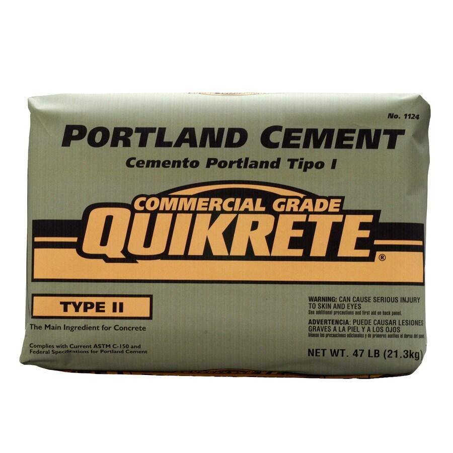 QUIKRETE Portland 47-lb Gray Type-II Cement Mix