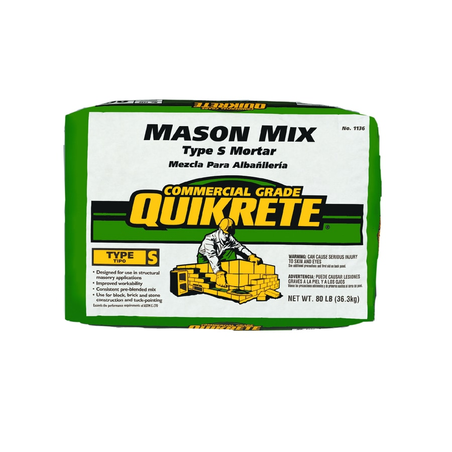 QUIKRETE 80-lb Gray Type-S Mortar Mix