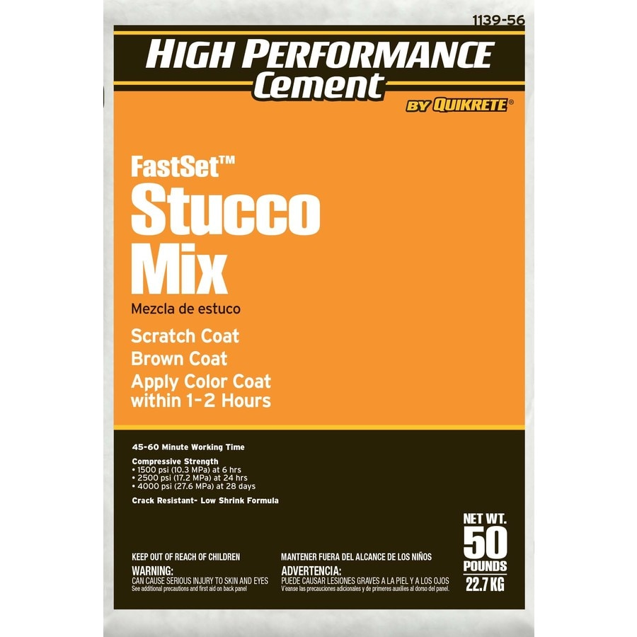 High Performance Cement by Quikrete High Performance Cement 50 -lb Premixed Base Coat Stucco Mix