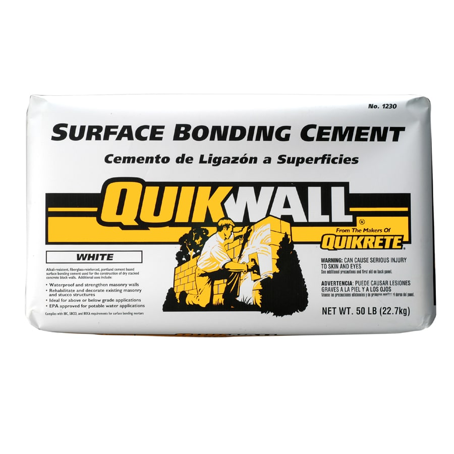 QUIKRETE Quikwall 50-lb White Cement Mix