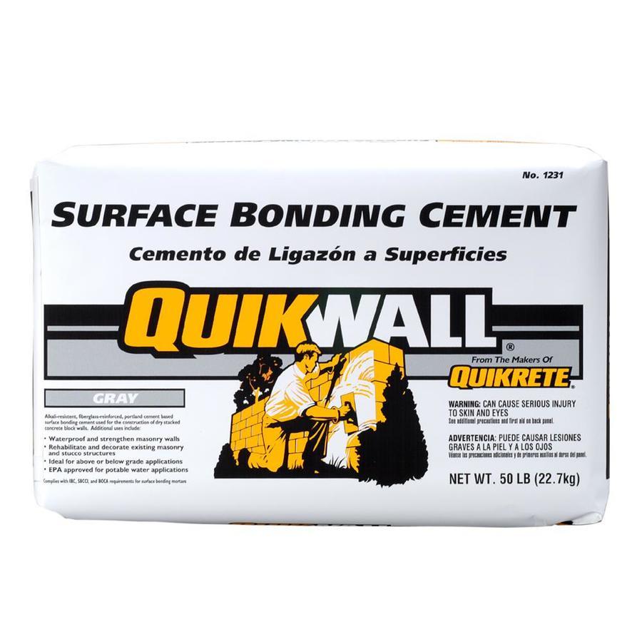 QUIKRETE Quikwall 50-lb Gray Cement Mix