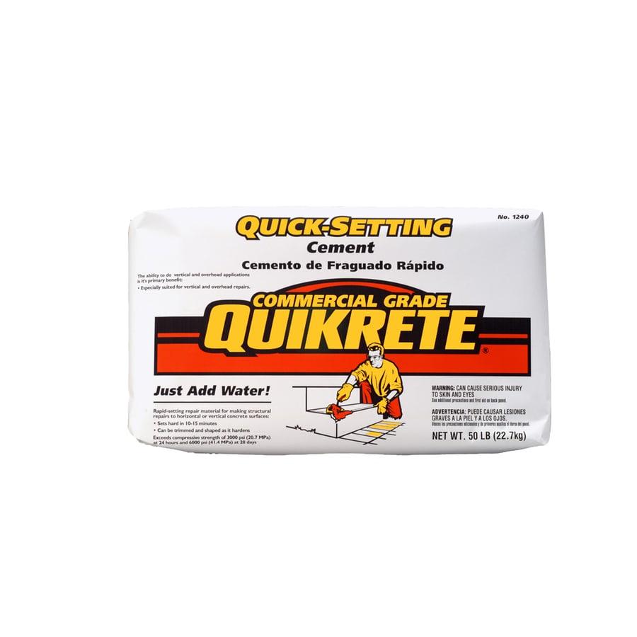 QUIKRETE Quick Setting 50-lb Gray Cement Mix