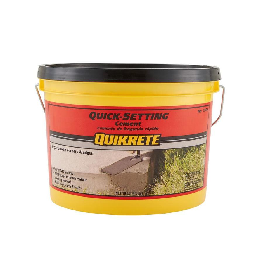QUIKRETE Quick Setting 10-lb Gray Cement Mix