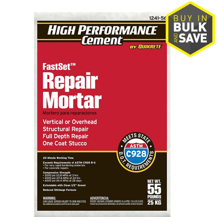 High Performance Cement by Quikrete High Performance Cement 55-lb Gray Type-M Mortar Mix