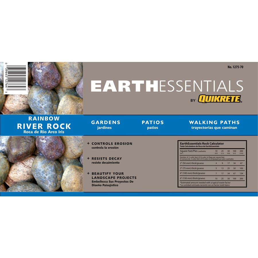 EARTHESSENTIALS BY QUIKRETE 0.5-cu ft Rainbow River Rock