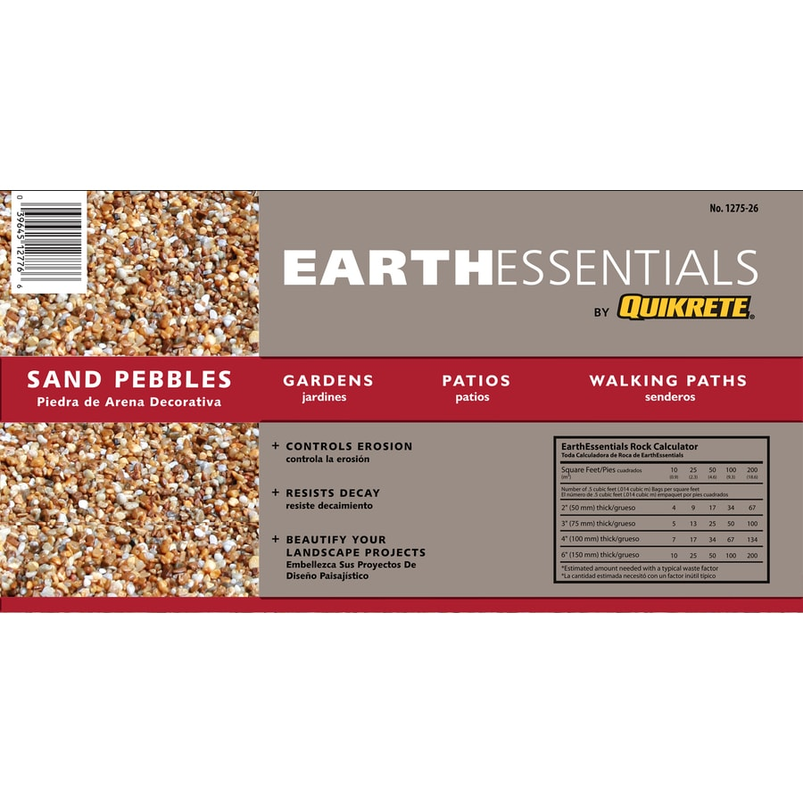 EARTHESSENTIALS BY QUIKRETE 0.5-cu ft Sand Pebbles