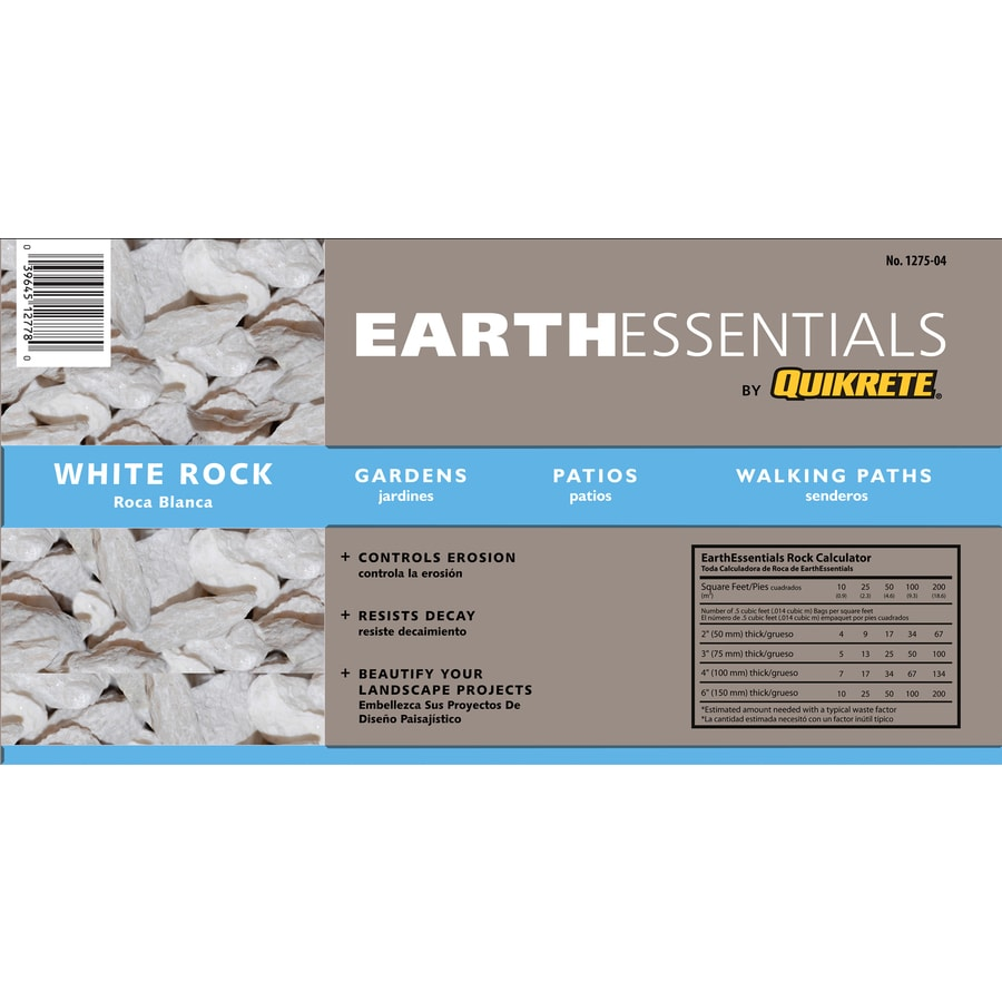 EARTHESSENTIALS BY QUIKRETE 0.5-cu ft White Rock