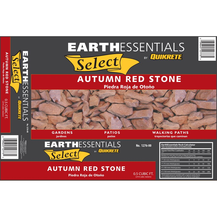 EARTHESSENTIALS BY QUIKRETE 0.5-cu ft Autumn Red Stone