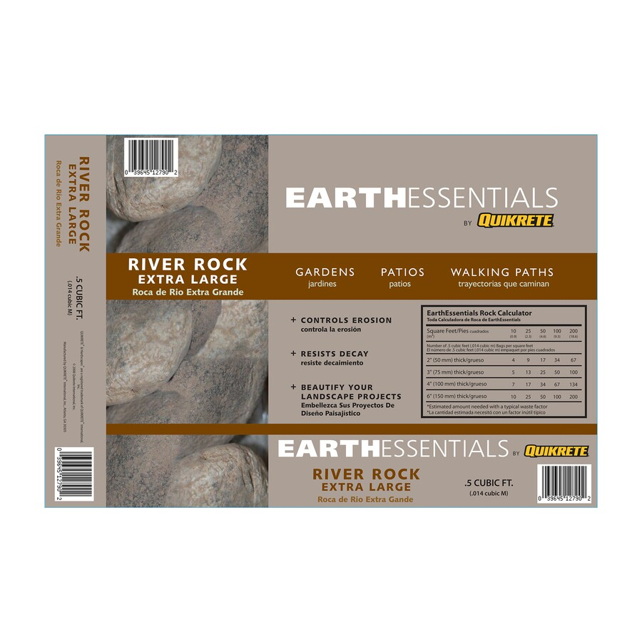 EARTHESSENTIALS BY QUIKRETE 0.5-cu ft Extra Large River Rock