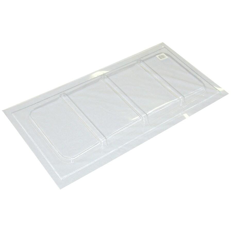 Shop maccourt 35 1 2 in x 25 in x 1 in plastic basement for Window zipper home depot