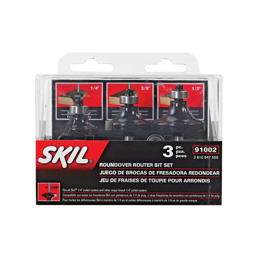 Skil Carbide Tipped Roundover Router Bit Set