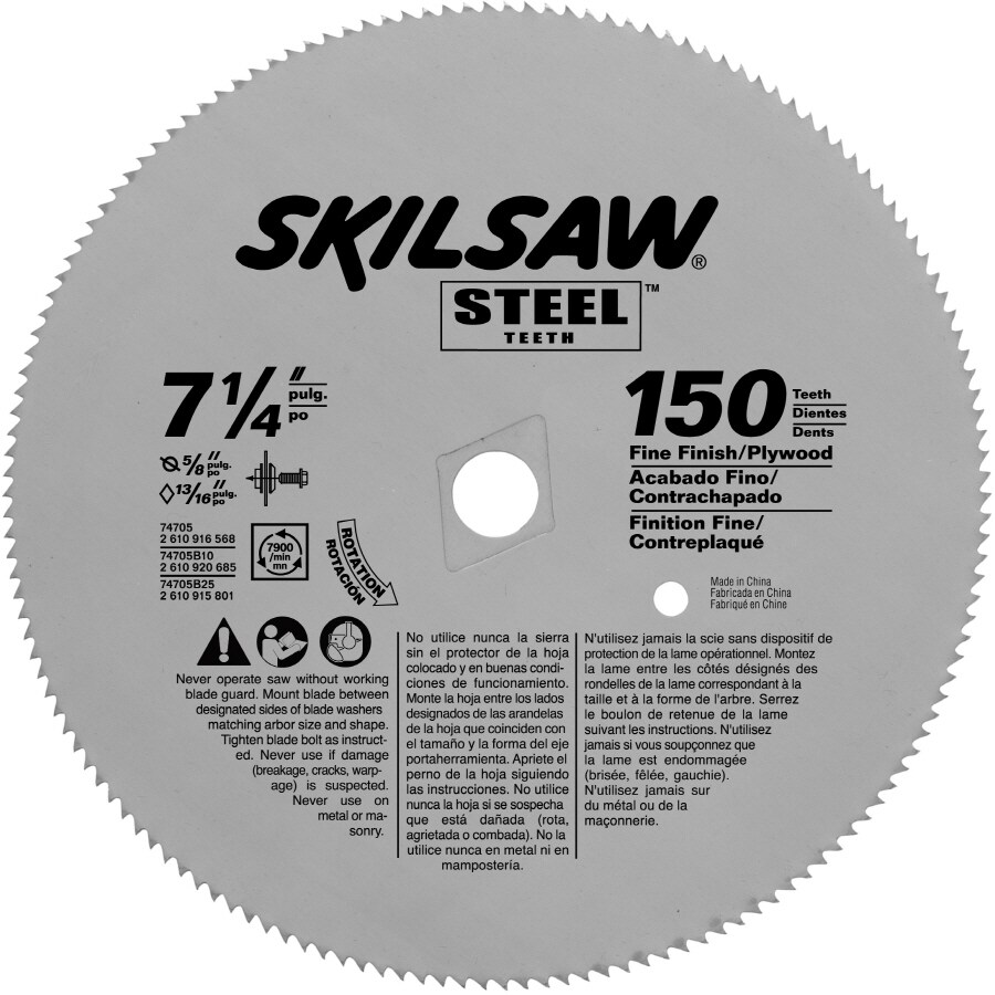 Skil 7-1/4-in 150-Tooth Standard Carbide Circular Saw Blade
