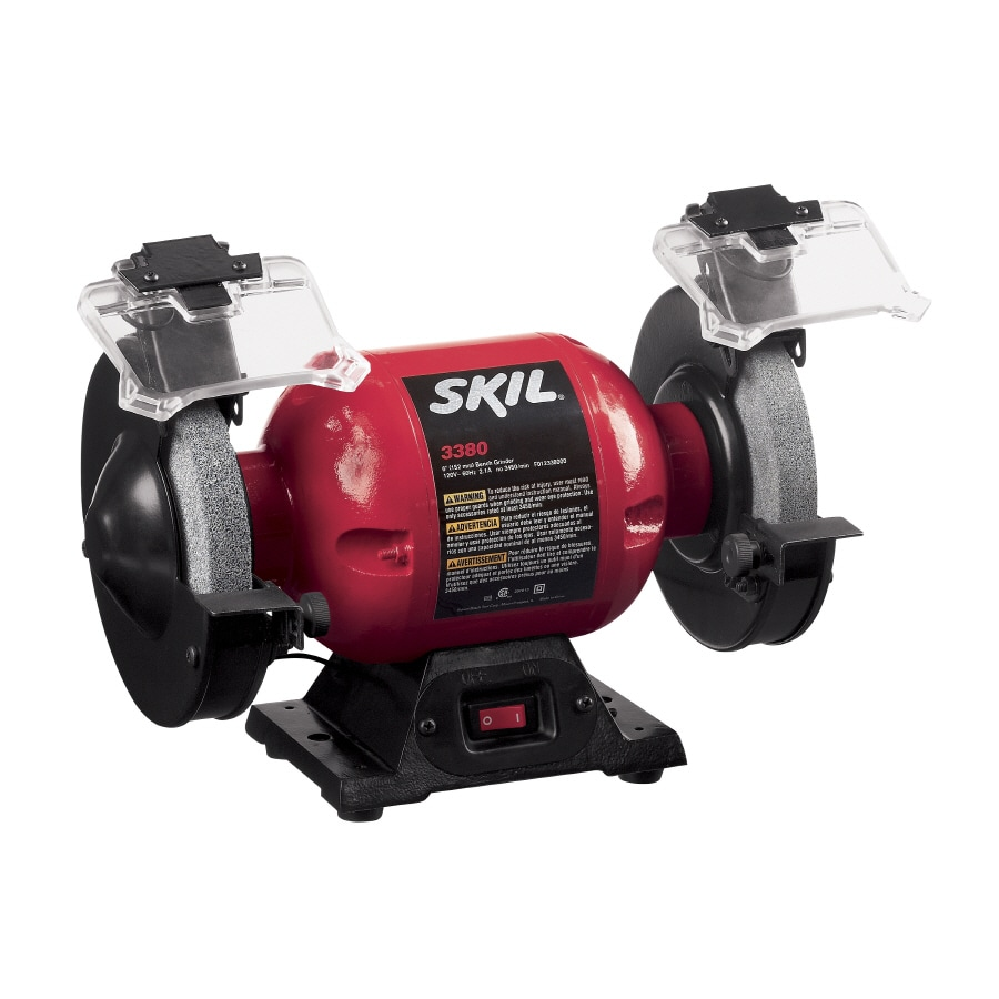 Skil 6-in Bench Grinder with Light