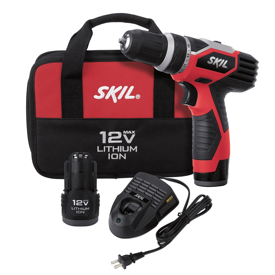 Skil 12-Volt Max Lithium Ion (Li-ion) 3/8-in Cordless Drill with Battery and Soft Case