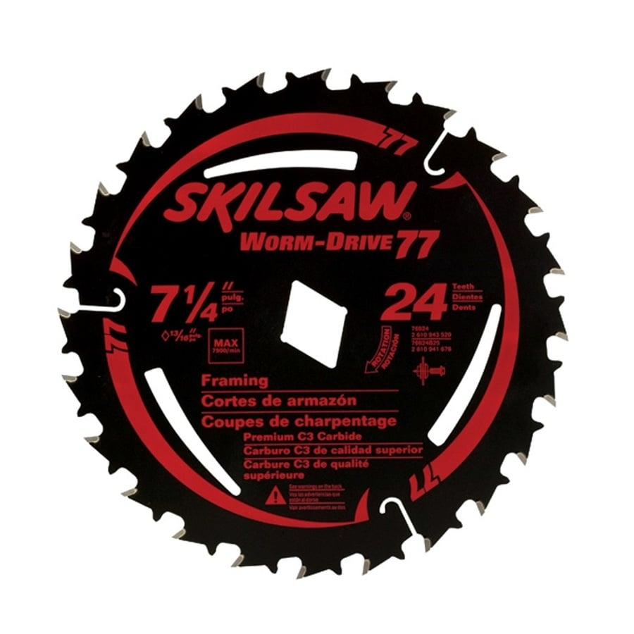 Skil 7-1/4-in 24-Tooth Standard Carbide Tooth Circular Saw Blade