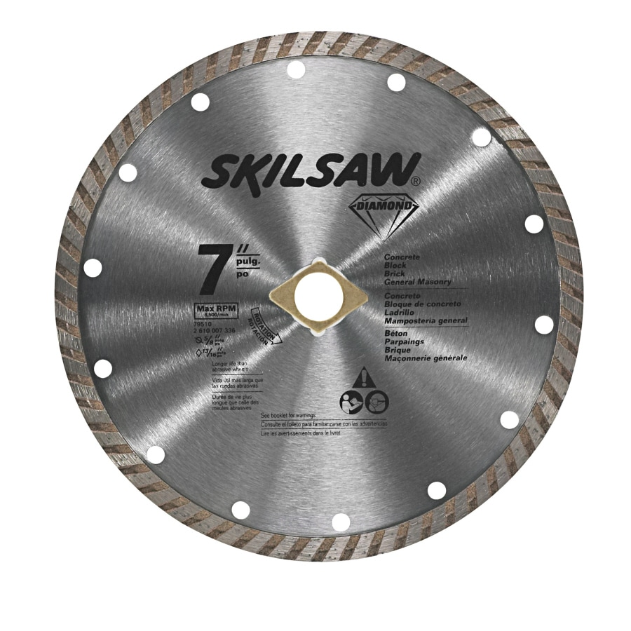 Skil 7-in Wet or Dry Turbo Diamond Circular Saw Blade