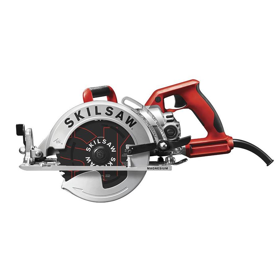 Skilsaw 15 Amp 7 1 4 In Worm Drive Corded Circular Saw With Magnesium Shoe In The Circular Saws Department At Lowes Com
