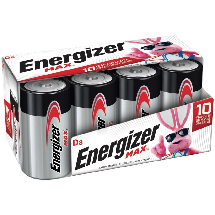Energizer 8-Pack D Alkaline Batteries