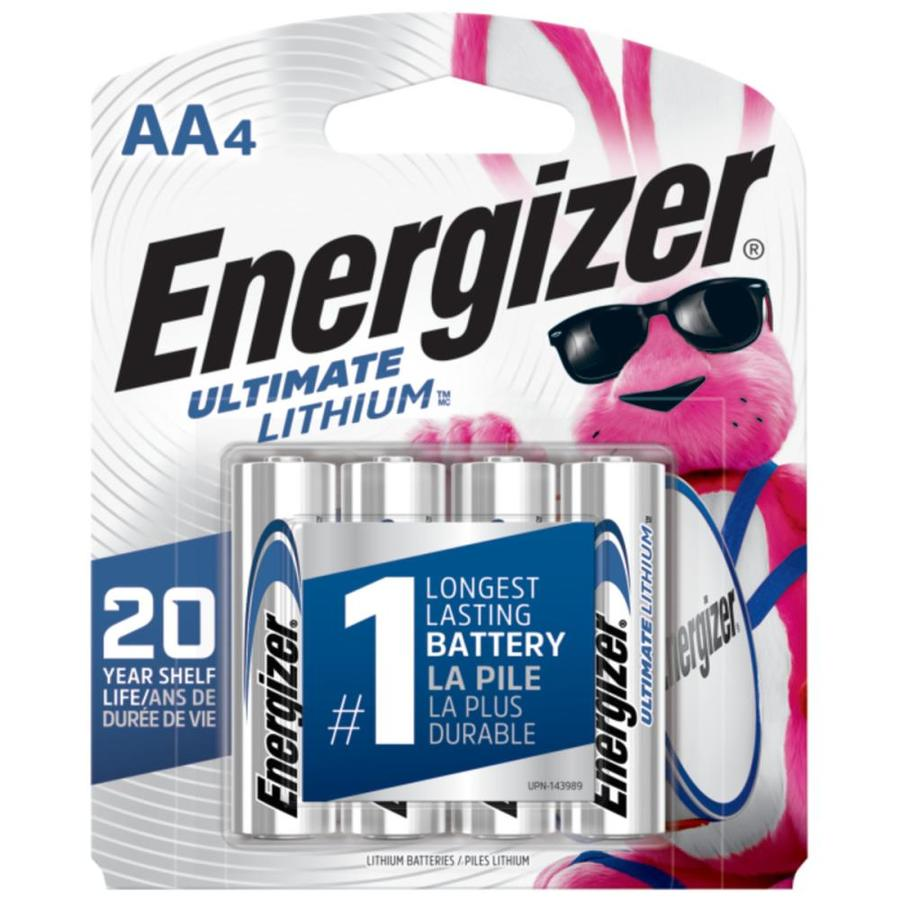 Energizer 4-Pack AA Lithium Batteries