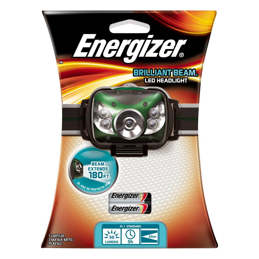 Energizer 100 Lumens Led Headlamp Battery Flashlight