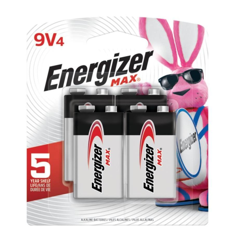 Energizer 4-Pack Pp3 (9V) Alkaline Batteries