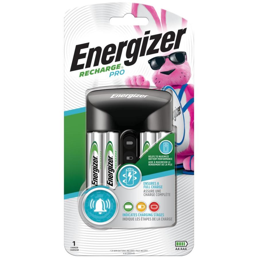 Energizer Recharge Pro Charger with 4-Pack AA Rechargeable Batteries