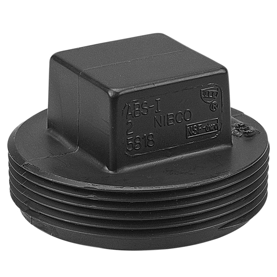 NIBCO 2-in Dia ABS Threaded Plug Fitting