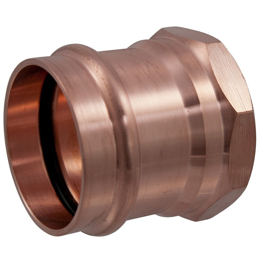 1-in x 1-in Copper Press-Fit Adapter Fitting